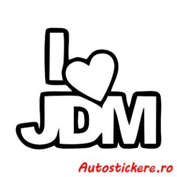 sticker I Love JDM 1