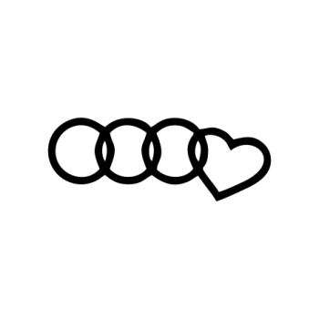 sticker Audi Love