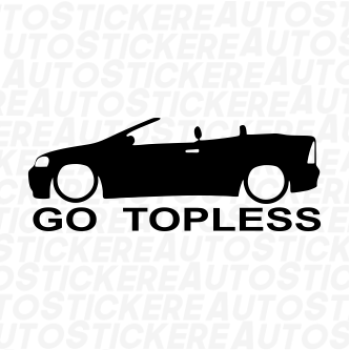 sticker Go Topless 2