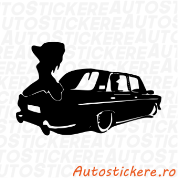 sticker Trabant Girl
