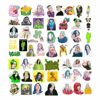 Set 50 Stickere Billie Eilish