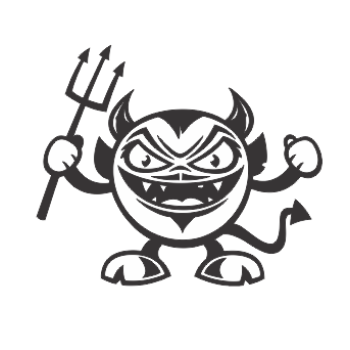 sticker Angry Demon