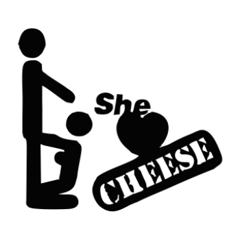 sticker She Loves Cheese 2